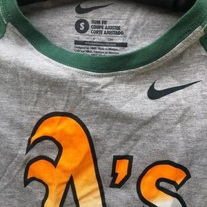 Nike Tops - Nike Oakland Athletics baseball tee